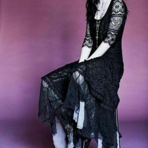 Free People Calamity Jane Lace Midi Dress Formal